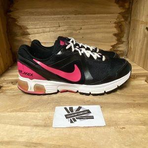 Nike air max run lite+ pink white black running sneakers shoes